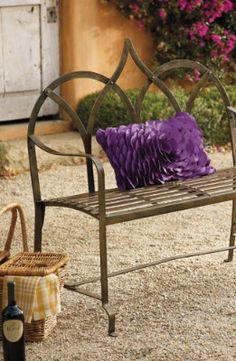 Eclectic Backyard Benches.