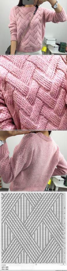 Пуловер с интересным узором.