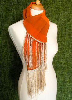 Kupuj mé předměty na #vinted http://www.vinted.cz/zeny/saly/9238826-oranzovy-sal-se-zlatymi-trasnemi