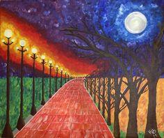 Mi último cuadro  Camino de media noche  Técnica acrílico  Dimensiones 50x60cm Autor Arq. Karina Burgos
