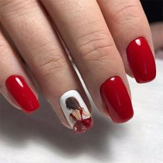 Red Nail Art Designs Cute Nail Art Ideas for a Red Manicure. Ombre Nail Designs, Acrylic Nail Designs, Nail Art Designs, Acrylic Art, French Nails, Ongles Roses Clairs, Red Ombre Nails, Brown Nails, Acrylic Nails Stiletto