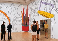 Michael Craig-Martin's Wall Paintings Transform Everyday Objects Into The Extraordinary James Rosenquist, Michael Craig, School Murals, Outline Drawings, Gcse Art, Everyday Objects, Claes Oldenburg, Jasper Johns, Sculpture