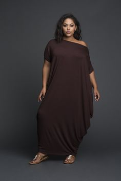 This is an easy comfort fit one sided shoulder Dress Fabric is viscose Lycra Handkerchief Closed hem Slip on Dress Machine Wash Cold, tumble dry and light iron if needed Plus Size Fashion Dresses, Plus Size Fashion For Women, African Fashion Dresses, African Dress, Plus Size Women, Plus Size Dresses, Plus Size Outfits, Plus Fashion, Big Size Fashion
