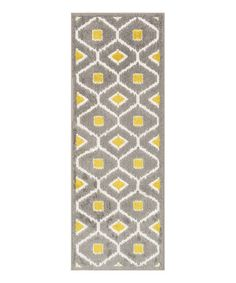 Take a look at this Grey & Citron Shapes Terrace Indoor/Outdoor Runner on zulily today!