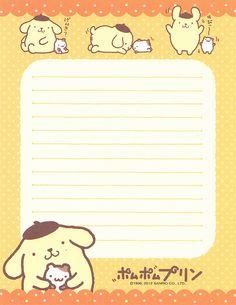 """Sanrio Purin Letter Set (""""Muffin"""")"""