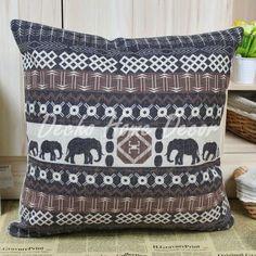 """gratis verzending kussenhoes 18"""" x 18"""" Afrikaanse decoratieve gooien dag bed kussen bank kussens(China (Mainland))"""