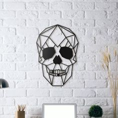Items similar to Wooden Sugar Skull Wall Art on Etsy Skull 3d, Skull Wall Art, Metal Wall Decor, Metal Wall Art, Wall Art Decor, Wall Drawing, 3d Prints, Skull Design, Mural Art
