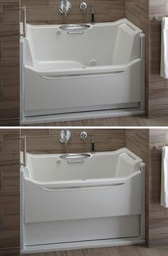 Kohler easy access tub  Not only accessible but also probably easier to  clean Disabled Bath Lift Seat  DisabilityLiving   Lots more accessible  . Easy Access Bathtubs Showers. Home Design Ideas