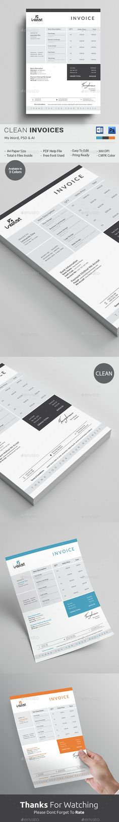 PSD Invoice Template, purely clean but truly professional. Download http://graphicriver.net/item/invoice/14984927?ref=themedevisers