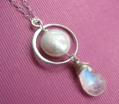 Coin pearl & moonstone! Drool.