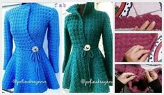 Crochet Princess Cardigan Free Pattern Tutorial - Video: five parts of videos to complete the project as well as adjust the size.