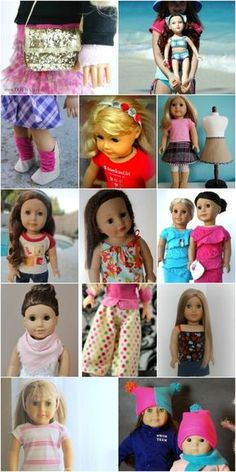 """80+ Free American Girl 18"""" Doll Clothes Patterns -- 7 pages/click on pattern names"""