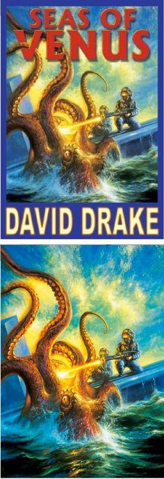 BOB EGGLETON - Seas of Venus by David Drake - 2002 Baen Books - cover by amazon - print by tumblr