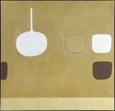 Permutations Ochre 1978 Oil paint on canvas