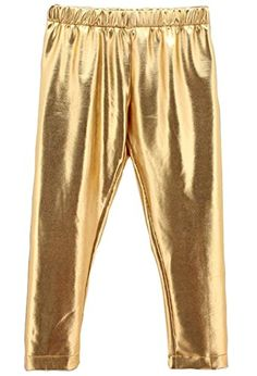 3e0a71c81 Baby Toddler Kids Children Girls Gold Shiny Pants Tights Leggings Trousers  612 Month Golden