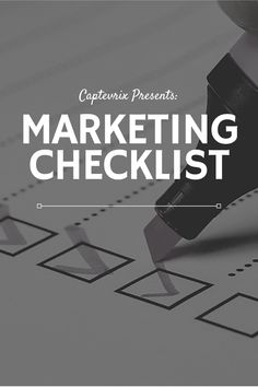 Whether you're a brand new start-up business or you're a veteran business owner that just needs to revamp their marketing strategy, you've come to the right place. . #marketing #marketingstrategy #digitalmarketing #inboundmarketing #demandgen #inbound #socialmedia #customerservice #marketingchecklist #marketingtips