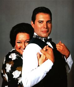 Montserrat Caballé and Freddie Mercury.