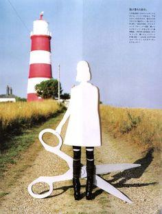 """Cut & Paste"" | Model: Lily Cole, Photographer: Tim Walker, Vogue Japan, December 2006"
