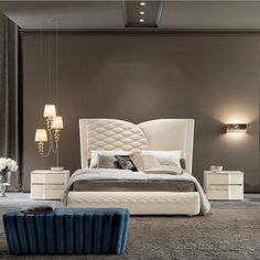 Luxury, contemporary  'Chanel Night' bed. Beautiful vintage design, incredible bed. My Italian Living.