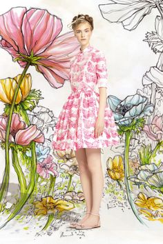 Gorgeous butterfly dress by Red Valentino SS14