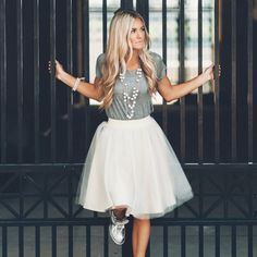 [Love Courtney Lee] the Ashley tulle skirt in champagne