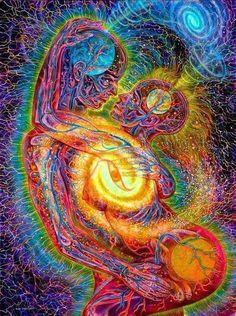 Love is a Cosmic Force by Alex Grey Alex Grey, Alex Gray Art, Tantra, Psychedelic Art, Art Visionnaire, Psy Art, Spirited Art, Mystique, Hippie Art