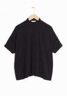& Other Stories image 1 of Oversized Buttoned Top  in Black