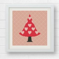 Cross Stitch Pattern-2 Heart Trees /Counted Cross Stitch Pattern/Cross Stitch/Embroidery/Cross Stitch Chart/Xstitch/Baby room decor/Baby Gir by Crossstitchfactory on Etsy