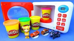 Play Doh Microwave Oven Playset Learn Colors Disney Pixar Cars and Talking Tom Surprise Toy for Kids - YouTube