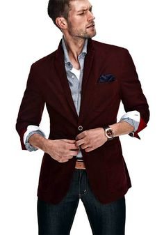 Burgundy blazer - could replace black as a basic neutral color in your wardrobe, will go with anything ^^
