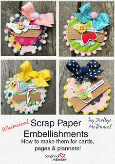 How to Make Paper Embellishment Bits 2019 Use Scrap Paper to create Embellishments by Shellye McDaniel The post How to Make Paper Embellishment Bits 2019 appeared first on Scrapbook Diy. Scrapbook Paper Crafts, Scrapbooking Layouts, Scrapbook Cards, Scrapbook Stickers, Pocket Scrapbooking, Scrapbook Designs, Travel Scrapbook, Craft Tutorials, Craft Projects