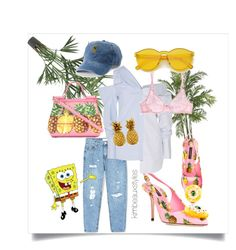 """""""Nautical Nonsense 🍍🌊"""" by kimbeauxstyles on Polyvore featuring Nearly Natural, Dolce&Gabbana, MANGO, Monse, L'Agent By Agent Provocateur and SO"""