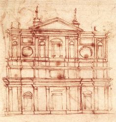 Michelangelo,+Study+for+the+Facade+of+San+Lorenzo