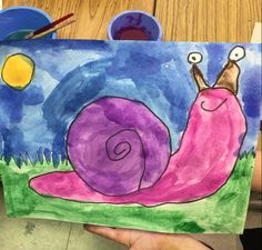 Snail Art Project for Kids - great for spring