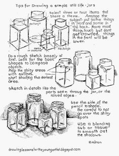 How to draw a still life tips. see more at my blog: http://drawinglessonsfortheyoungartist.blogspot.com/