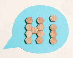 Bamboo Hexagon Fridge Magnets  set of 20 by buProducts on Etsy
