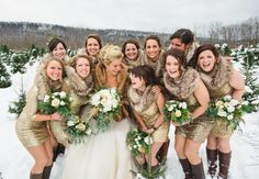 One of my favorite weddings I've written. Check it out in the Pennsylvania issue of The Knot! Those bridesmaid dresses! Photo: Lauren Fair photography