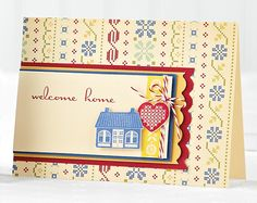 Welcome Home Card by Heidi Van Laar Welcome Home Cards, Paper Crafts Magazine, Cloth Paper Scissors, Mixed Media Tutorials, Scrapbook Cards, Scrapbooking, Card Maker, Paper Cards, Creative Cards