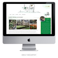 Emily McCarthy Branding Design | To Love and Lucy Custom Website Design