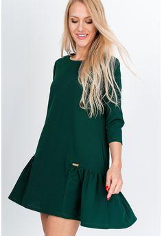 Vzdušné koktejlové krátke tmavo zelené šaty - ROUZIT.SK High Neck Dress, Dresses, Fashion, Turtleneck Dress, Vestidos, Moda, Fashion Styles, Dress, Fashion Illustrations
