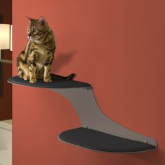 The Refined Feline Cat Clouds Cat Shelf Titanium  -  www.charlesandchubs.com