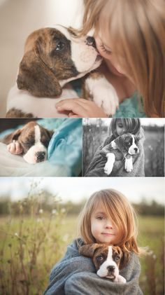 Kiddos with their pets<3 This will be Adalynn with her first puppy!