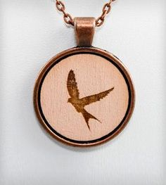Cameo Swallow Necklace