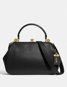 Frame Bag 23 in Colorblock Leather Satchel, Pebbled Leather, Leather Handbags, Women's Handbags, Leather Bags, Bonnie Cashin, Monogram Online, Black Coach Purses, Frame Bag