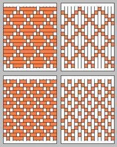 Paper weaving need not be boring: up-down-up-down. Rather, paper weaving patterns can be surprizingly complex. Inkle Weaving, Paper Weaving, Tablet Weaving, Weaving Textiles, Weaving Art, Tapestry Weaving, Hand Weaving, Fabric Weaving, Weaving Projects