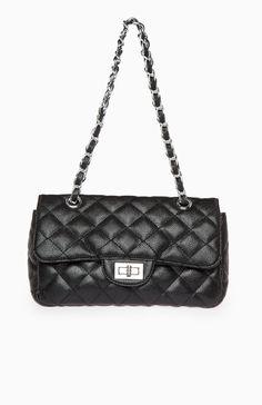 DailyLook: Coco Quilted Medium Handbag in Black