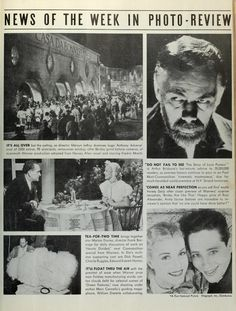 The Film Daily Magazine: Mervyn LeRoy, Fredric March, Ross Alexander, Anita Louise, Marion Davies, Frank Borzage, Dick Powell, Charlie Ruggles, Edward Everett Horton, Marc Connelly, William Dieterle. Anthony Adverse, Hervey Allen, The Story of Louis Pasteur,  Arthur Brisbane, Brides are Like That, Hearts Divided, Green Pastures. Warner Brothers. (Jan-Apr 1936)