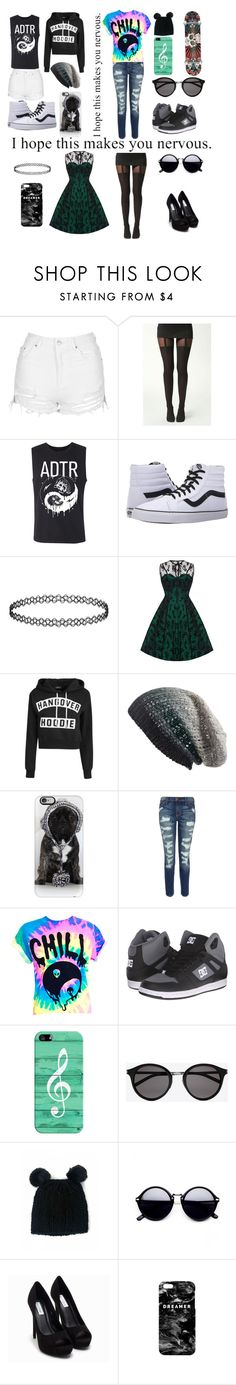 """""""Morning to Date night!"""" by rainbowsdear on Polyvore featuring beauty, Topshop, Boohoo, Vans, Voodoo Vixen, Michael Stars, Casetify, Current/Elliott, DC Shoes and Yves Saint Laurent"""