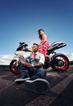 Ducati motorcycle cover, not your original engagement session. Frank Amodo Photography