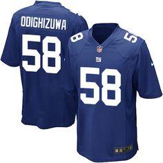Nike Game Owa Odighizuwa Royal Blue Men's Jersey - New York Giants #58 NFL Home